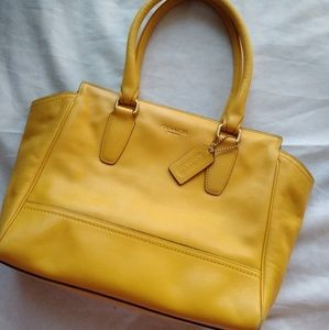 Coach yellow purse